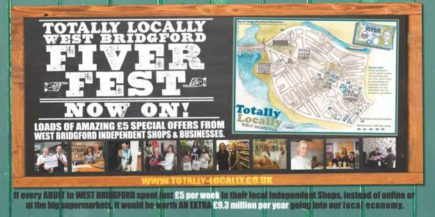 Totally Locally West Bridgford Fiver Fest 2014