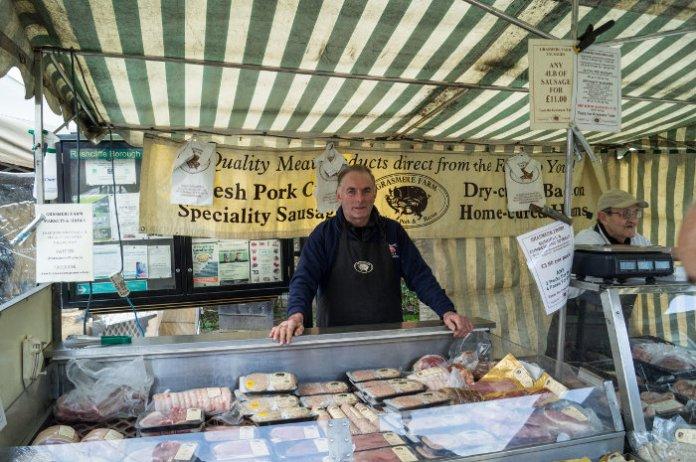 Grasmere Farm stall at West Bridgford Farmers Market