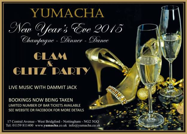 New Year's Eve 2014 at Yumacha, West Bridgford