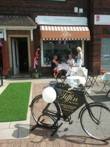 Front of Tiffin Tea House in West Bridgford