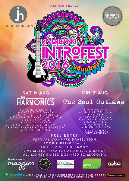 Riverbank Intro Fest 2016 lineup