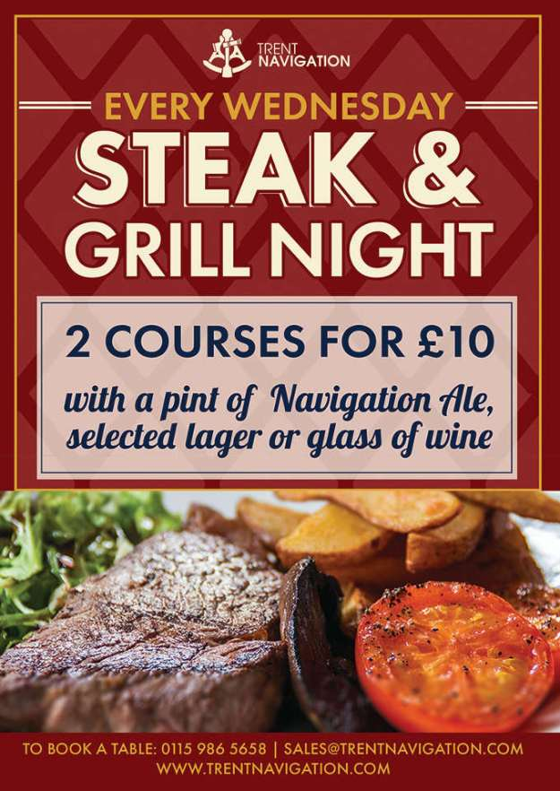 Trent Navigation Steak Night