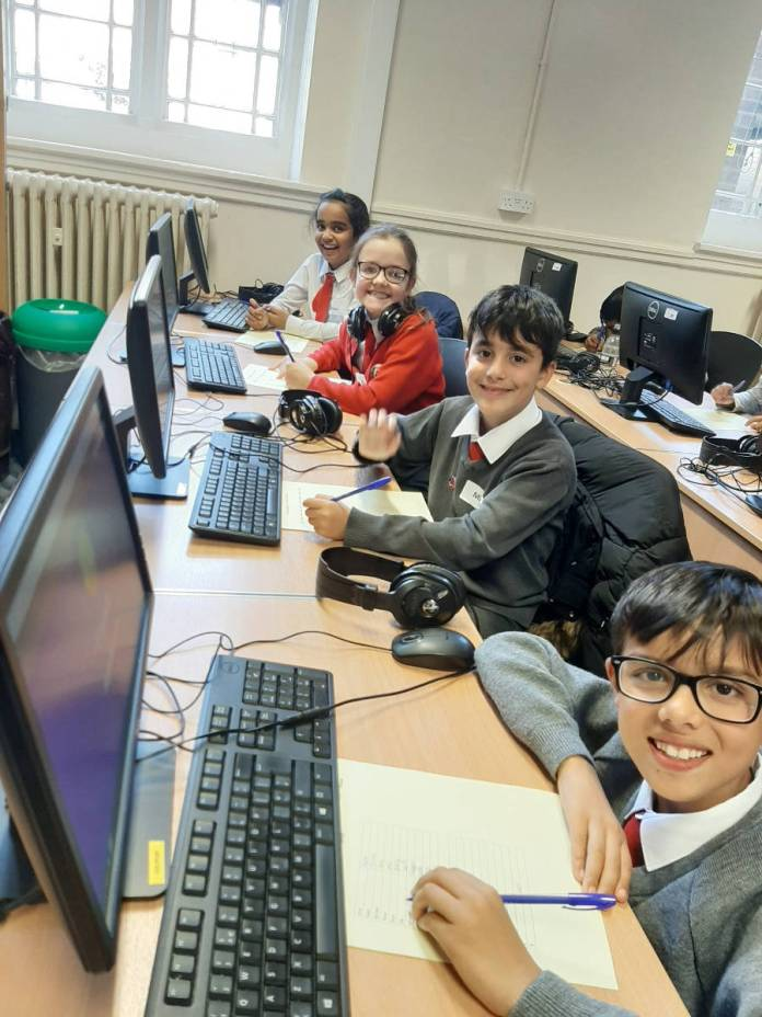 Pupils at St Edmund Campion