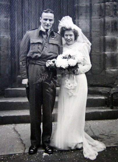 Wedding of Sgt Sedgley to Dorothy Lewis, after his return to England.