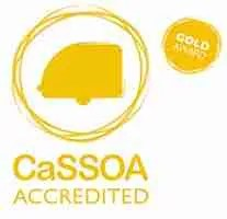 cassoa gold award caravan storage Blackpool north west