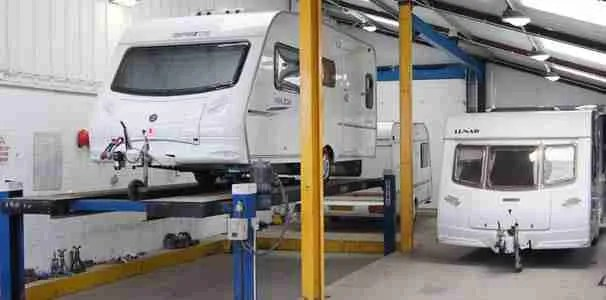 Caravan repair workshop Blackpool