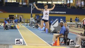 Olivia Montez-Brown long jumping