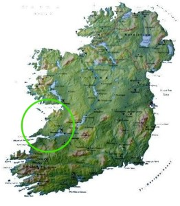 The West of Ireland   Where is County Clare    The Wild Atlantic Way Map of Ireland