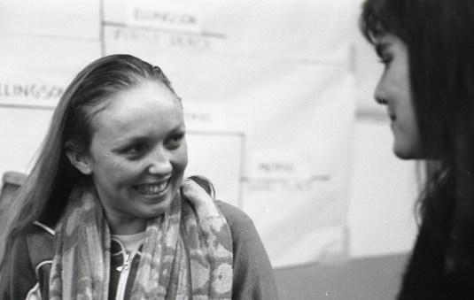Joy Ellingson with roomie Laurel Clark