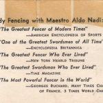 Aldo Nadi's Record, Part One