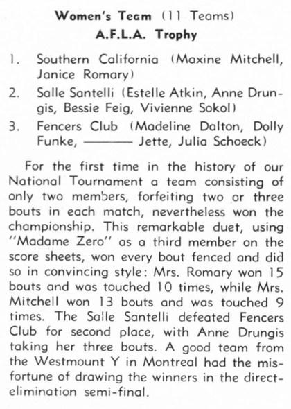 1956 Natls WF Team
