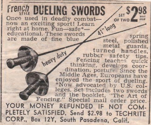 1952 Swords ad