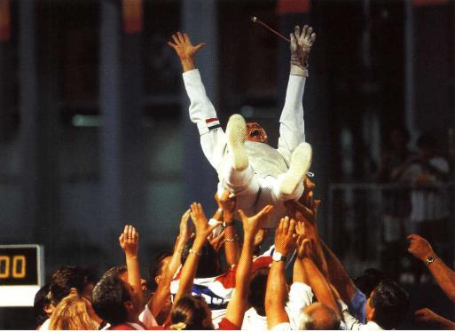 Olympics 1992 MF Philippe Omnes
