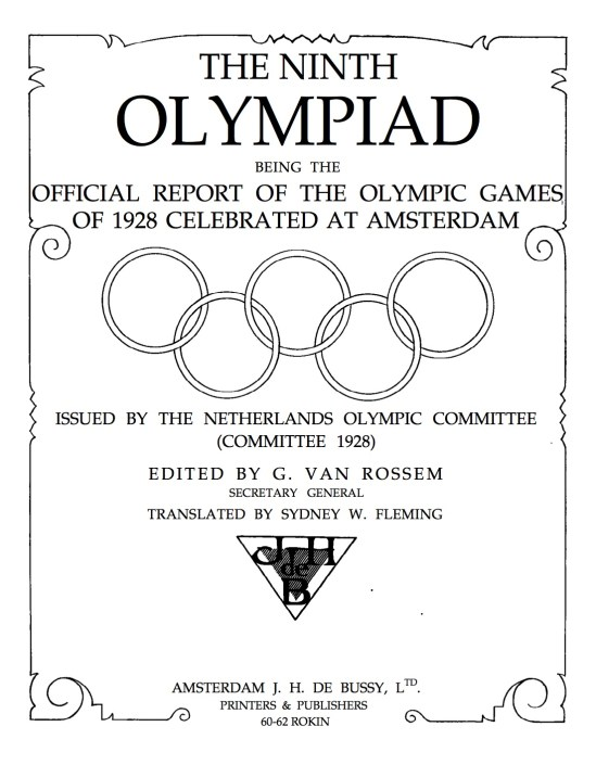 1928 Olympic Record