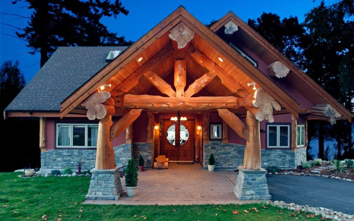 Sechelt Post And Beam West Coast Log Amp Timber