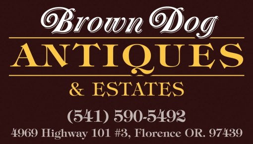 Brown Dog Antiques Business Card