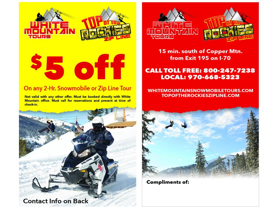 White Mountain Tours – Discount Card
