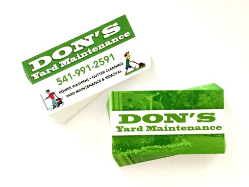 Don's Yard Maintenance – Business Cards