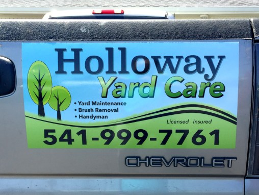 Holloway Yard Care – Magnetic Car Sign