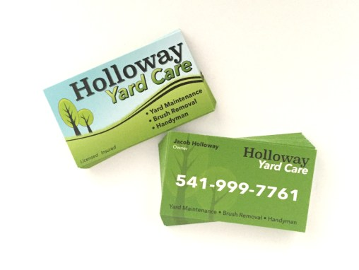 Holloway Yard Care – Business Card