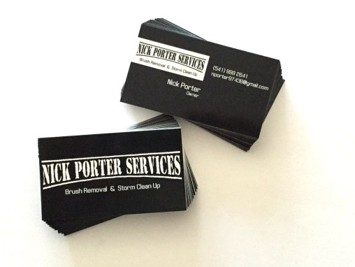 Nick Porter – Business Cards