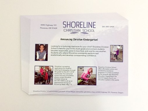 Shoreline Christian School – Flyers