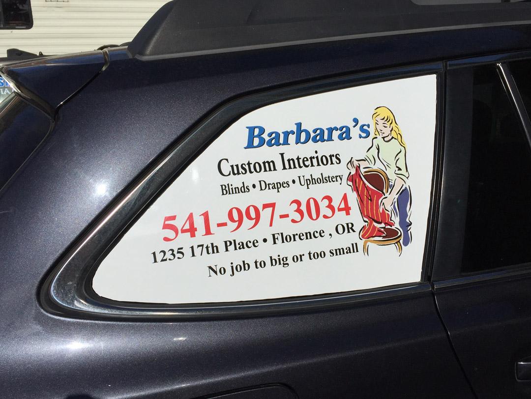 Barbaras Custom Interiors – Window Cling