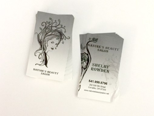 Natures Beauty Salon – Business Cards