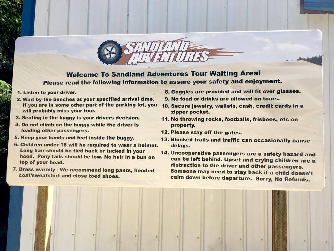 Sandland Adventures – Sign