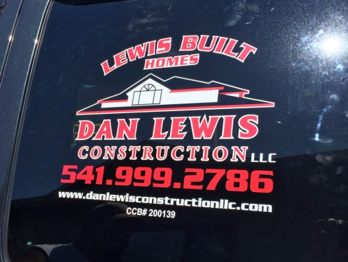 Dan Lewis Construction – Car Window Vinyl