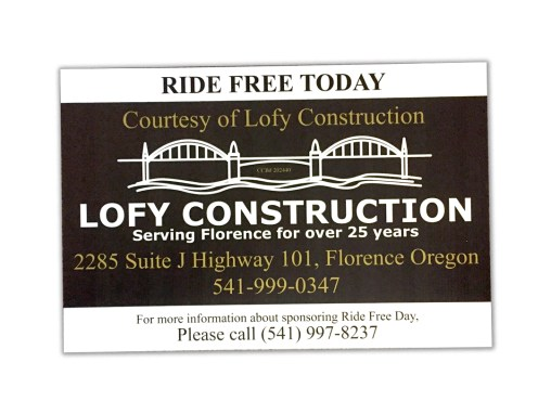 Lofy Construction – Ride Free Sign