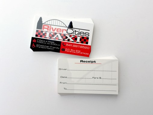 River Cities Taxi – Business Cards