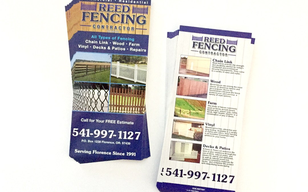Reed Fencing – Rack Cards