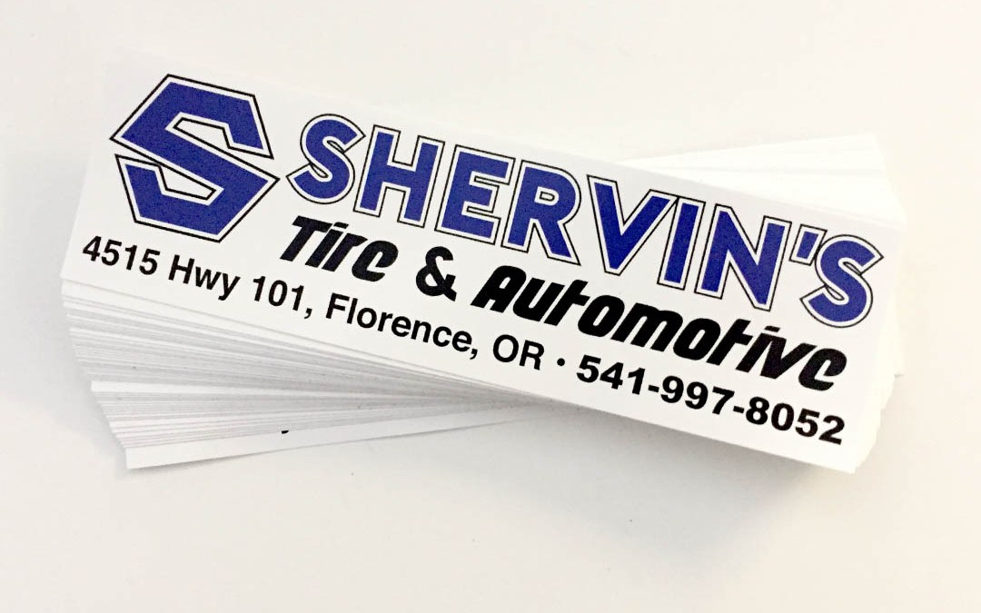 Shervin's Tire & Automotive – Bumper Stickers