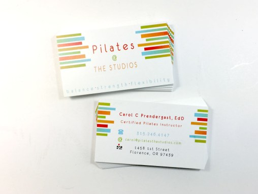 Pilaties @ The Studios – Business Card