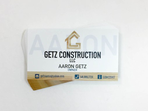 Getz Construction – Business Cards