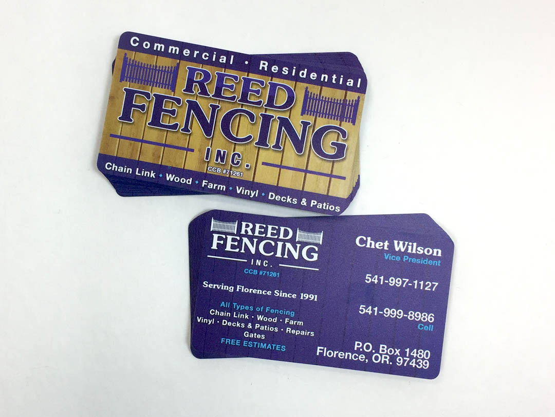 ReedFencing – Plastic Business Cards