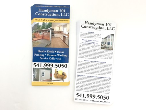 Handyman 101 – Rack Cards