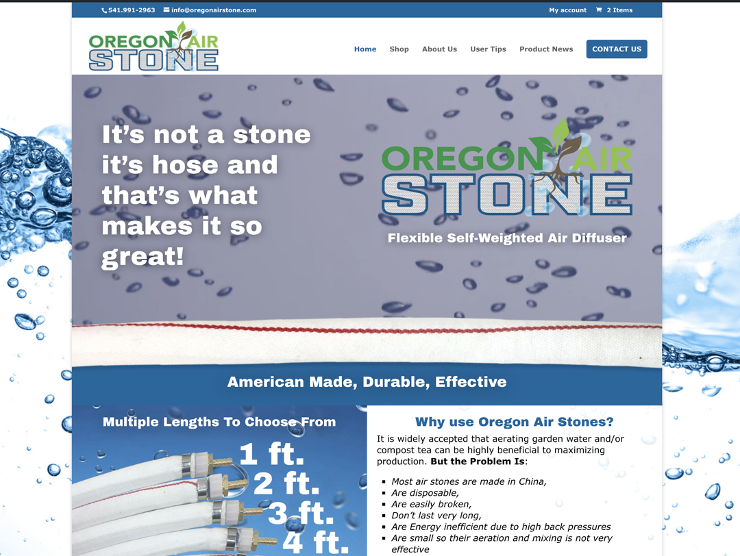 Oregon Air Stone – Website