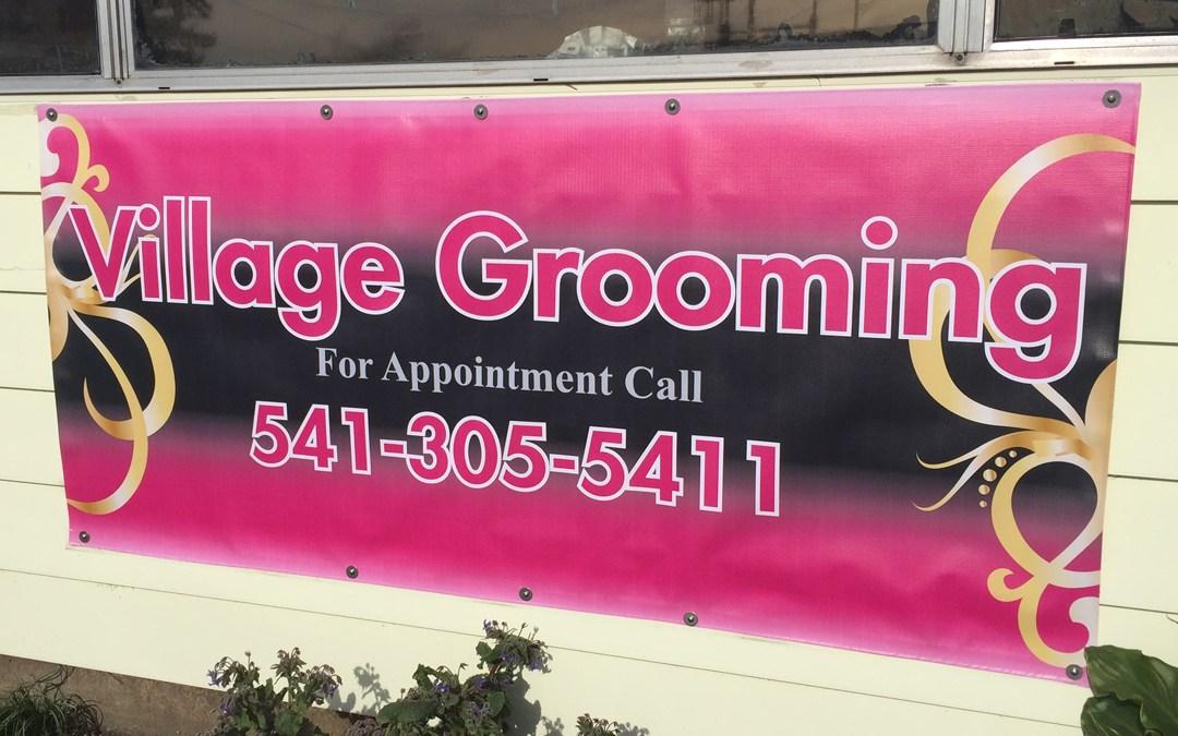 Village Grooming – Banner Sign