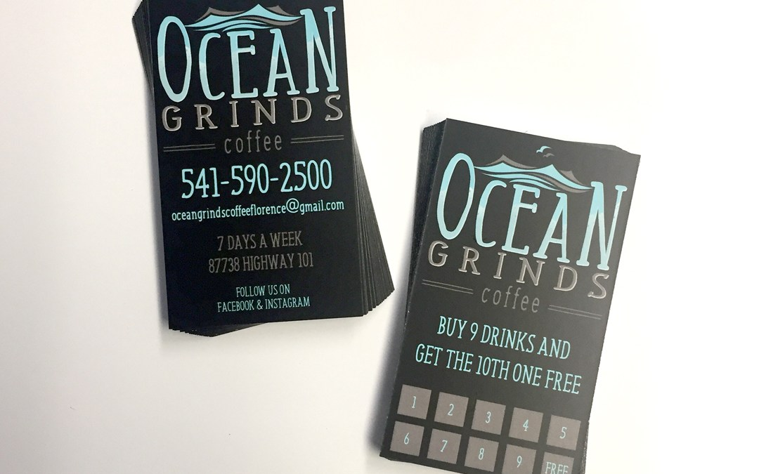 Ocean Grinds Coffee – Business Cards