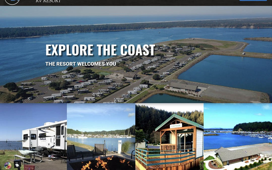 Winchester Bay RV Resort – Website Redesign