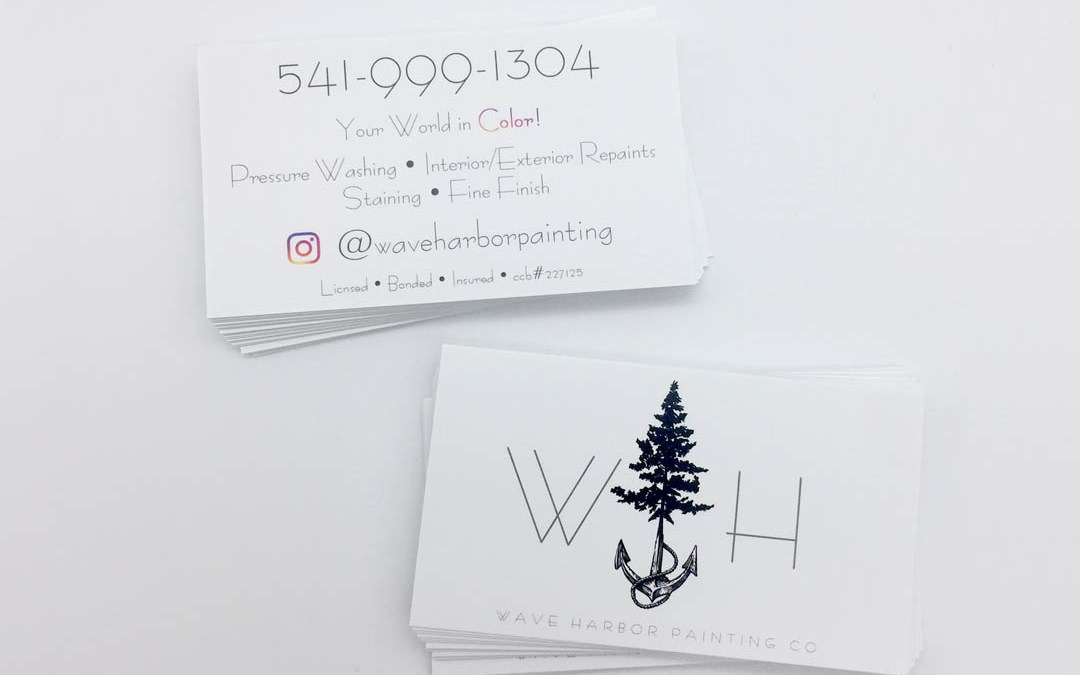 Wave Harbor Painting – Business Cards