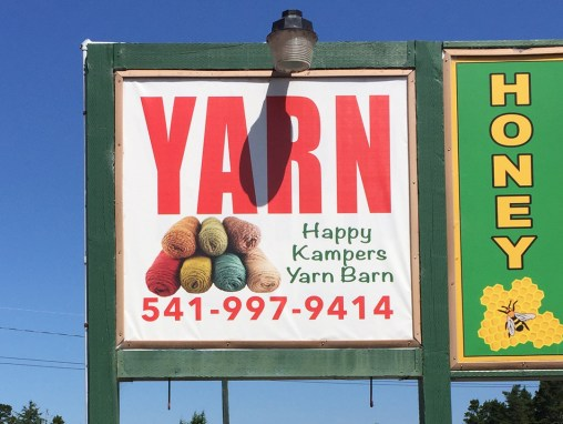 Happy Kampers Yarn Barn – Sign