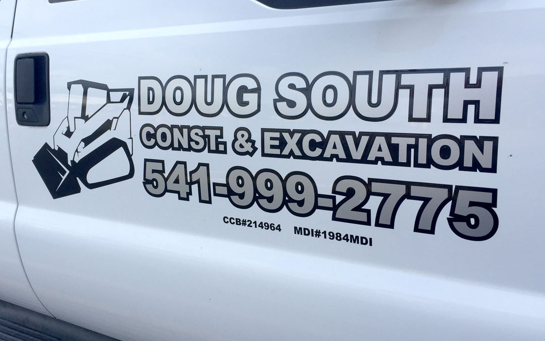 Doug South Const. & Excavation – Vinyl Graphics