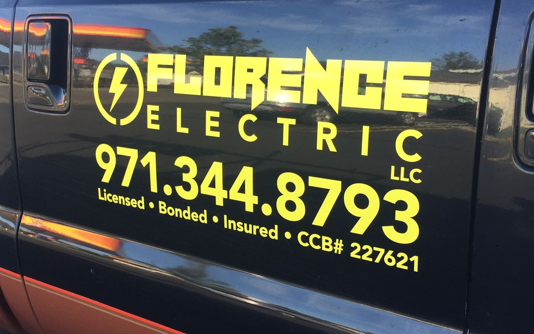 Florence Electric – Vinyl Lettering