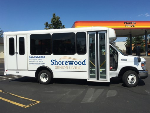 Shorewood Senior Living – Vinyl Graphics on Bus