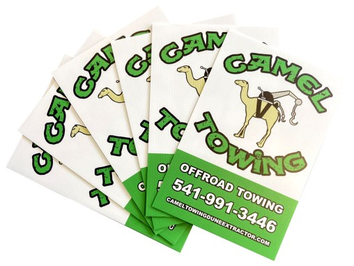 Camel Towing – Coroplast Signs