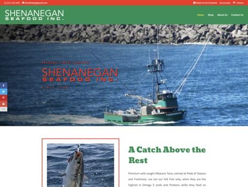 Shenanegan Seafood Inc. – Website