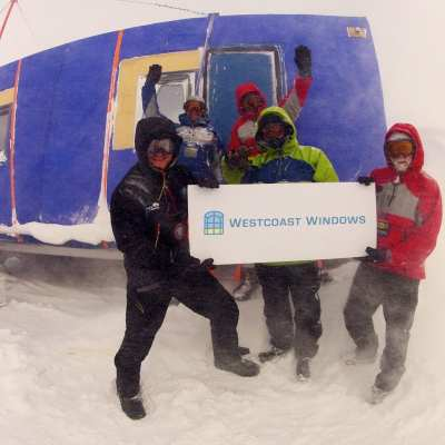 Westcoast Windows sponsors of The Coldest Journey